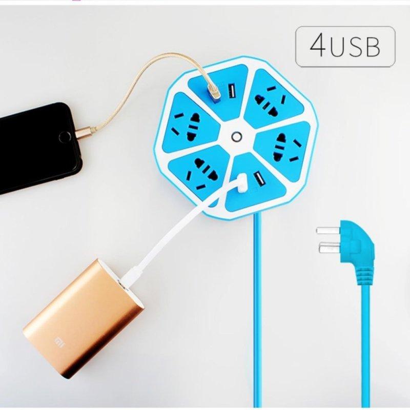 Bảng giá Ổ điện đa năng lục giác 4 cổng USB (BM2017)