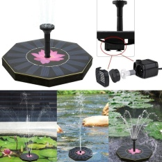 OH Octagonal-shaped Solar Floating Fountain Water Pump For Garden Pool Plants Black & Pink - intl