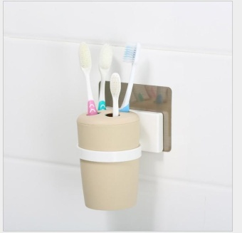 OJ non-trace wall-mountable toothbrush cup - intl