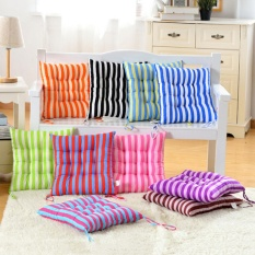 Outdoor Dining Garden Patio Home Kitchen Office Chair Seat Striped Pads Cushions Orange - intl