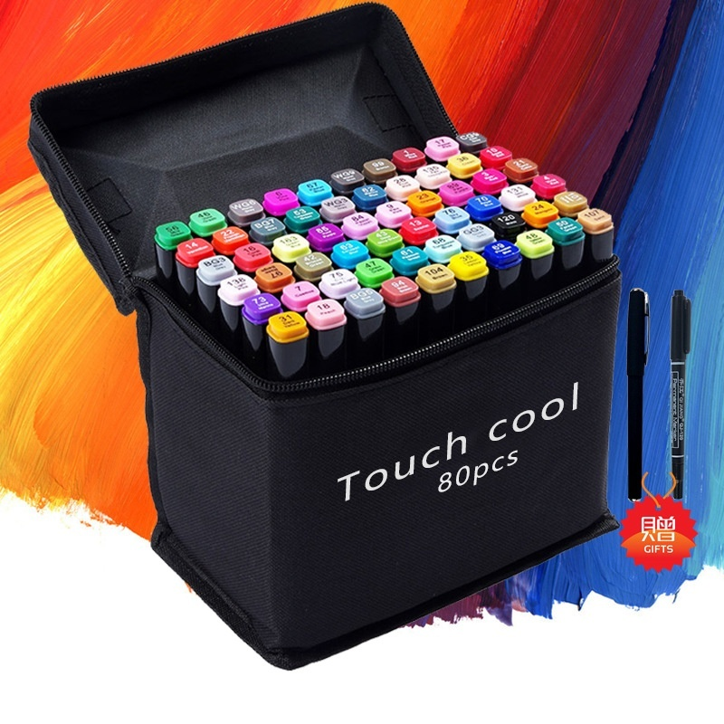 Mua Painting double head color oily Mark Pen Set 80 color students design hand-painted pen - intl