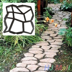 Paving Pavement Mold Patio Concrete Garden Walk Path Stepping Stone Mould - intl