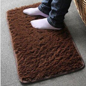 Plush Shaggy Soft Carpet Rugs Slip Resistant Floor Mats - intl