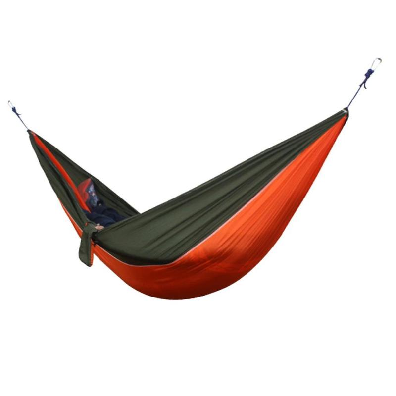 Portable Double Person Hammock (Orange Green)