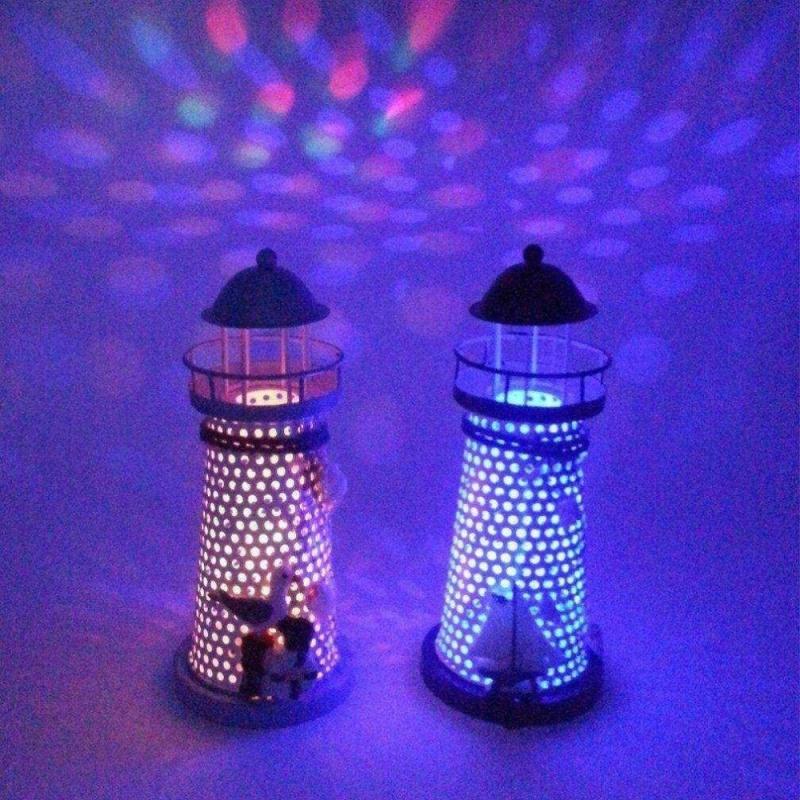 Bảng giá Mua Portable Ornament Nautical Ocean Lighthouse Lantern Lamp Color Changing LED - intl
