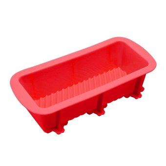 Rectangle Silicone Cake Mold Baking Pastry Tools color:red - intl