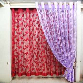 Rèm Cửa Hình Bướm (đỏ)