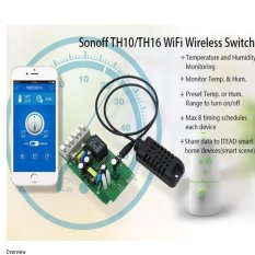 Sonoff TH16A Temperature & Humidity Monitoring WiFi Smart Automation Switch APP - intl