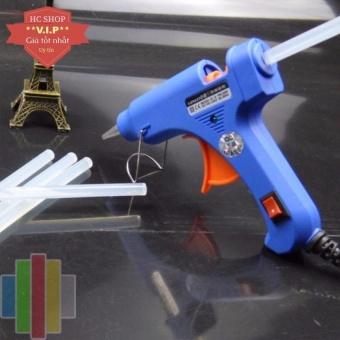 Súng bắn keo Nến silicon (Xanh) + Tặng 10 cây keo Silicon nến