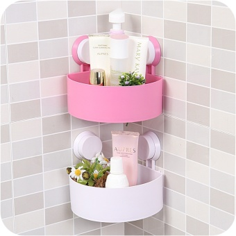 T Triangle Strong Suction Cup, Bathroom Shelf, Bathroom WallHanging, Bathroom Corner Frame, Bathroom Toilet Storage Rack - intl - 3