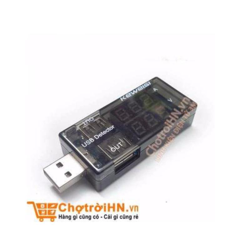 Bảng giá Mua Test Điện Thoại, Sạc Dự Phòng Bằng USB Đo Dòng - Đo Áp V2 3V-9V 3A