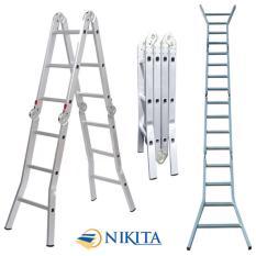 Thang nhôm gấp 4 đoạn 5,8m  Nikita Nhật Bản