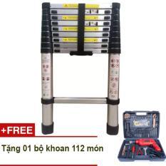 Thang rút Kachi loại 2.9m (Bạc) + Tặng bộ khoan cầm tay DIY