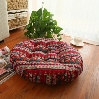 Thick Cotton Chair Cushions Bohemia Simple Style Colorful Seat Cushion Round Floor Cushion Pad Home Office 55x55cm - intl
