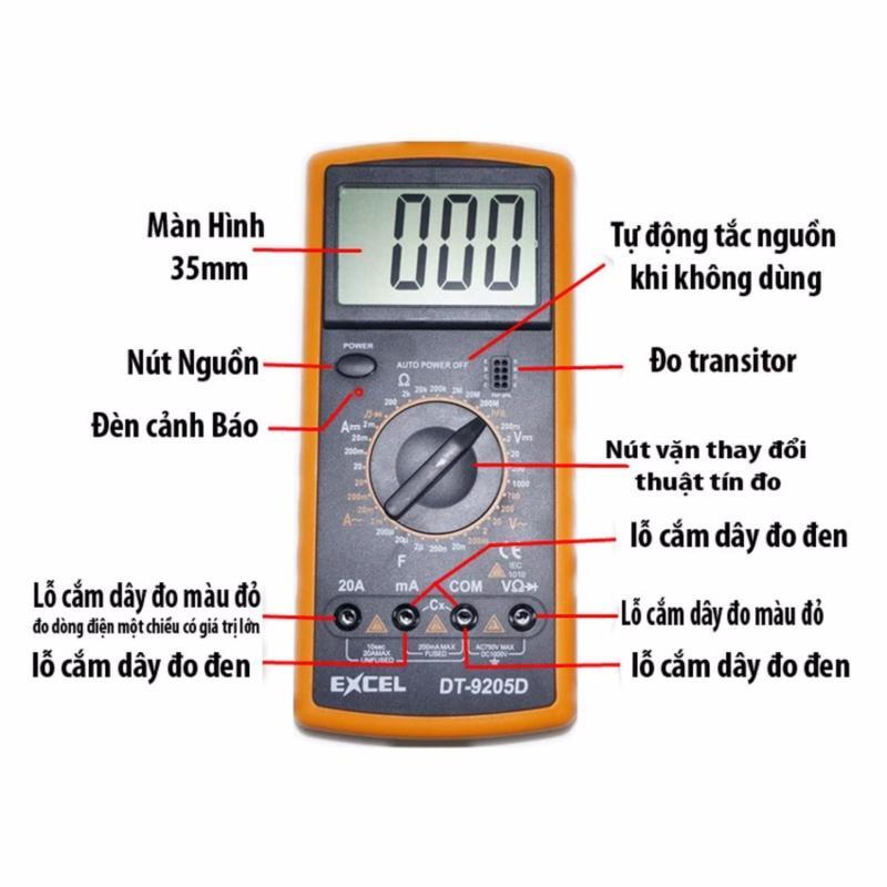 Thiết bị dụng cụ đo điện, điện tử Excel DT9205D