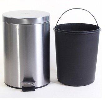 Thùng rác inox ECO 101/7L (Bóng xước cao cấp)