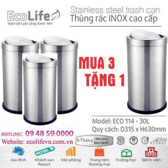 Thùng rác inox ECO 114/30L (Bóng Gương cao cấp) (Mua 3 tặng 1) - 8126677 , EC288HLAA1LSXDVNAMZ-2637967 , 224_EC288HLAA1LSXDVNAMZ-2637967 , 4260000 , Thung-rac-inox-ECO-114-30L-Bong-Guong-cao-cap-Mua-3-tang-1-224_EC288HLAA1LSXDVNAMZ-2637967 , lazada.vn , Thùng rác inox ECO 114/30L (Bóng Gương cao cấp) (Mua 3 tặng 1