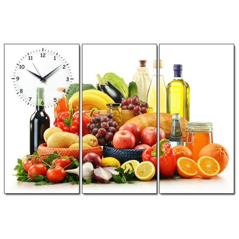 Nơi bán Tranh đồng hồ Bữa tiệc trái cây Suemall TA140705