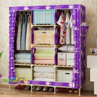 Tủ quần áo 3 buồng 8 ngăn khung gỗ chắc chắn