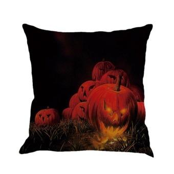 UINN Halloween Pillowcase Weeds Withered Tree Pumpkin Witch Bat Full Moon Darkness #3 - intl