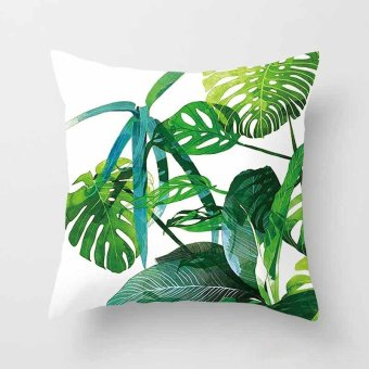 Giá Rẻ Nhất Vintage Flower Tropical Leaves Pillow Case Cushion Cover ...