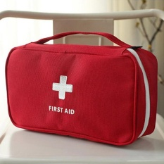 vishine mall-Empty First Aid Kit Pouch Home Office Medical Emergency Travel Rescue Case Bag - intl