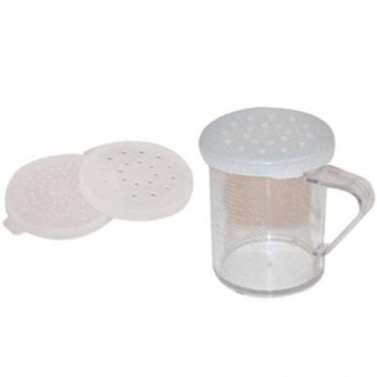 Winware 300Ml Polycarbonate Dredge With 3 Snap-On Lids - intl