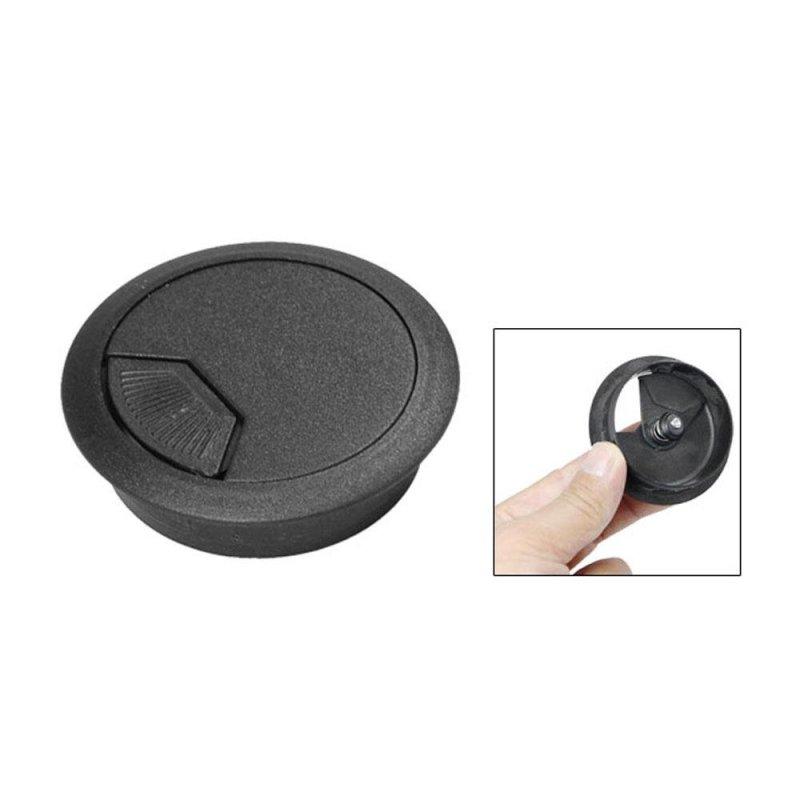 Bảng giá Mua Womdee PC Desk Flip Top Plastic Grommet Cable Hole Cover (Black,5cm) - intl