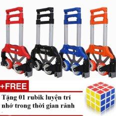 Xe Nâng Kéo Đẩy Hàng Bằng Tay (Màu đỏ) + Tặng 01 Bộ Xếp Hình Rubik