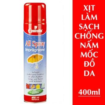 Xịt làm sạch đồ da, chống nấm mốc da, không màu 400ml nhập khẩuĐức, tốt vào mùa ẩm ướt