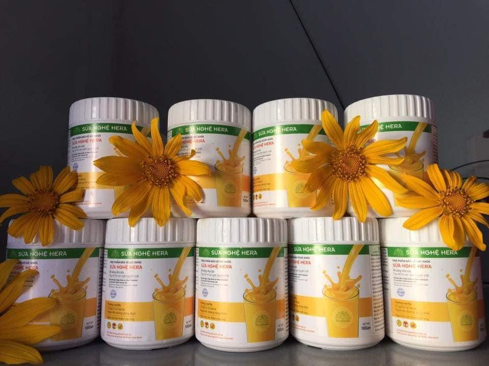 SỮA NGHỆ HERA - 100GR - Sản phẩm bảo vệ sức khỏe, đẹp dáng sáng da, Sữa tốt cho hệ tiêu hóa, hết đau dạ dày, ợ nóng, hỗ trợ sau điều trị HP, giúp bổ sung dinh dưỡng cho người bệnh sau phẫu thuật, ngăn ngừa tế bào ung thư phát triển giai đoạn sớm