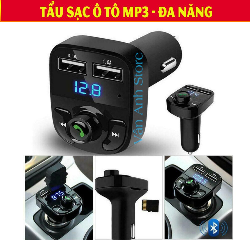 Tẩu Nghe Nhạc MP3, Tẩu Sạc Ô Tô, Tau Sac O To, Đầu Sạc Ô Tô,Cốc MP3 Cho xe Hơi.[HÀNG XỊN] Kết Nối Bluetooth, Sạc Pin,  Nghe Nhạc Mp3, Chế Độ Nghe Điện Thoại Rảnh Tay.Giao Hàng Toàn Quốc - Mua Ngay.