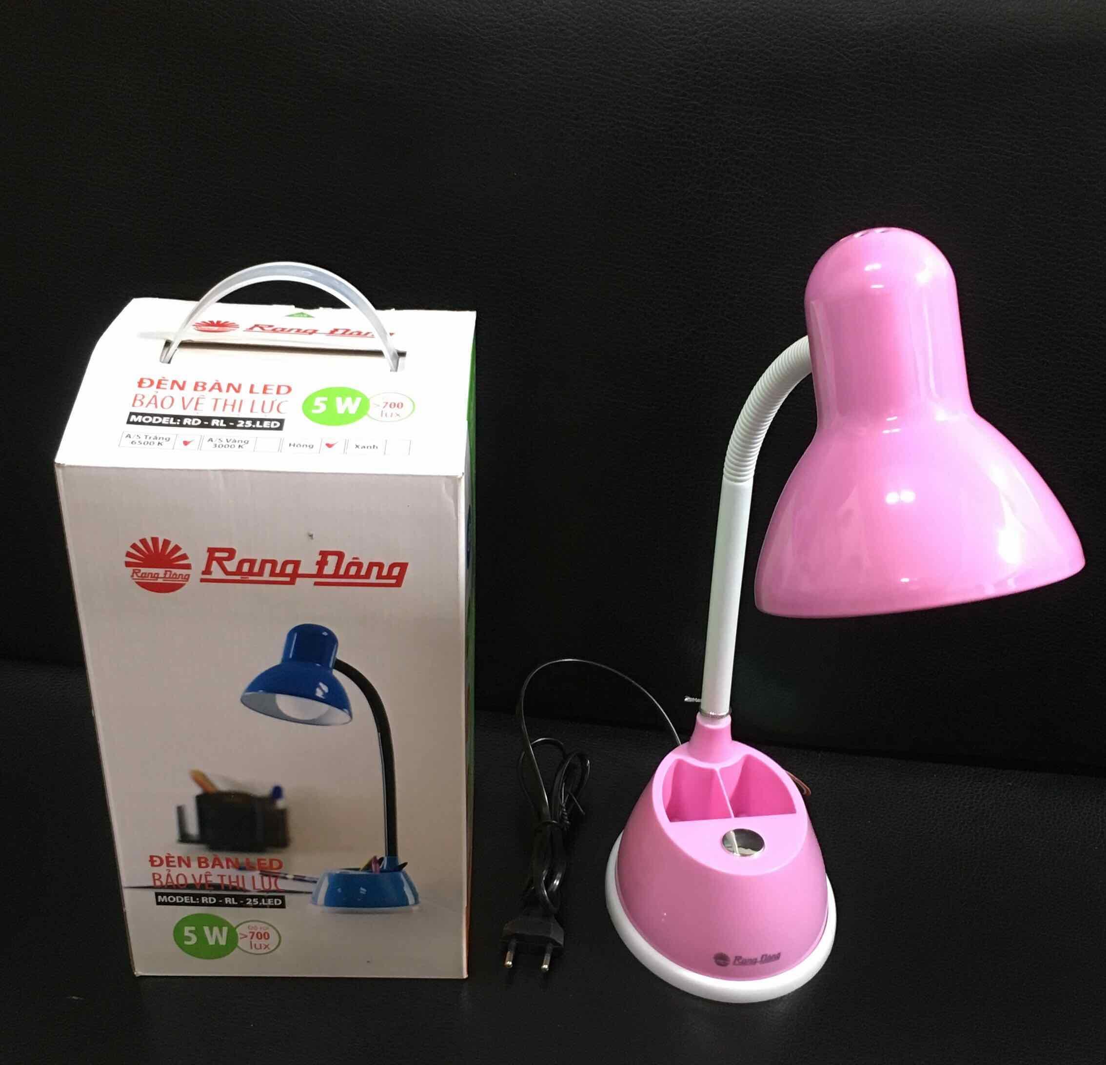 Đèn bàn LED Rạng Đông 5W bảo vệ thị lực, thay bóng dễ dàng, không tia UV & cực tím. RL 25
