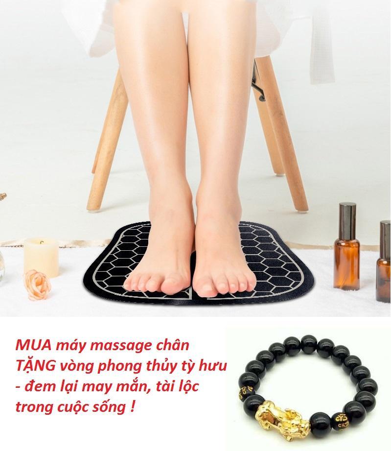 Máy mát xa cầm tay - Máy massage chân xung điện từ giúp thư giãn, chữa bệnh & lưu thông mạch máu [ TẶNG VÒNG TAY PHONG THỦY - CÓ VIDEO ]