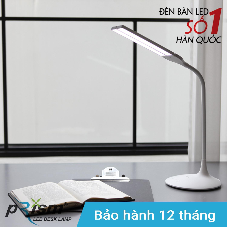 Đèn bàn học tích điện thông minh LED PRISM Hàn Quốc PL-1400WH công suất 5W ánh sáng đổi màu đa chức năng chống cận bảo vệ mắt (Trắng)