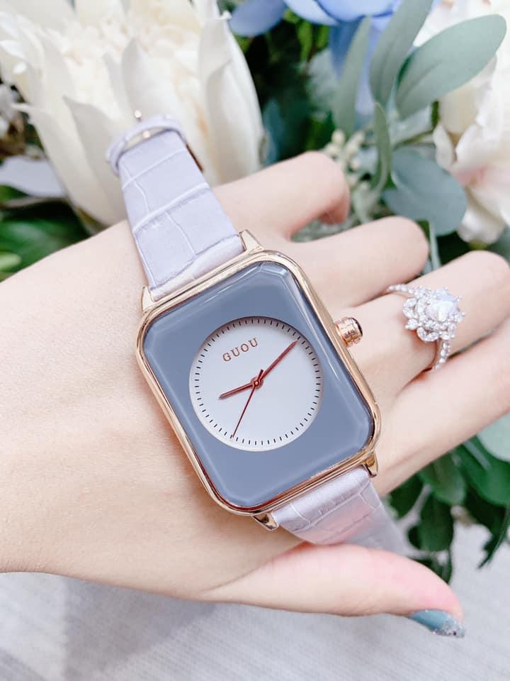 Đồng hồ Nữ GUOU Dây Mềm Mại đeo rất êm tay, Chống Nước Tốt, Bảo Hành Máy 12 Tháng Toàn Quốc 20