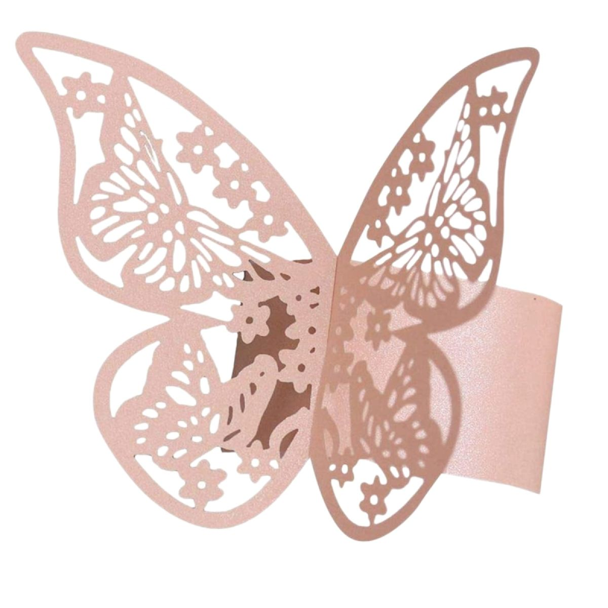 50pcs 3d Butterfly Paper Napkin Rings For Weddings Party Serviette Table Decoration Butterfly Napkin Rings Lazada