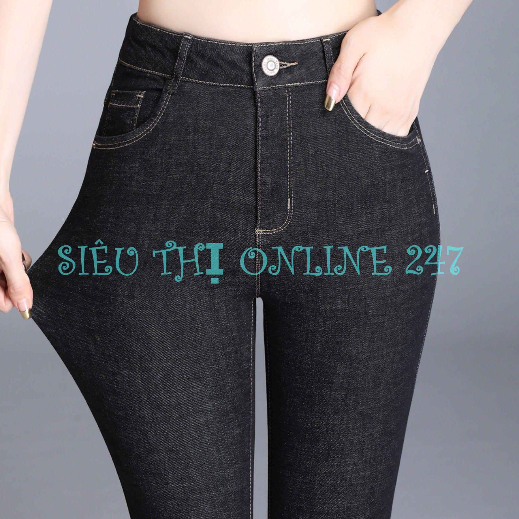 Quần Jean Nữ Thời Trang ST ĐEN BỐ (3) (Có Size Đại) - Hoặc Áo Thun Trắng