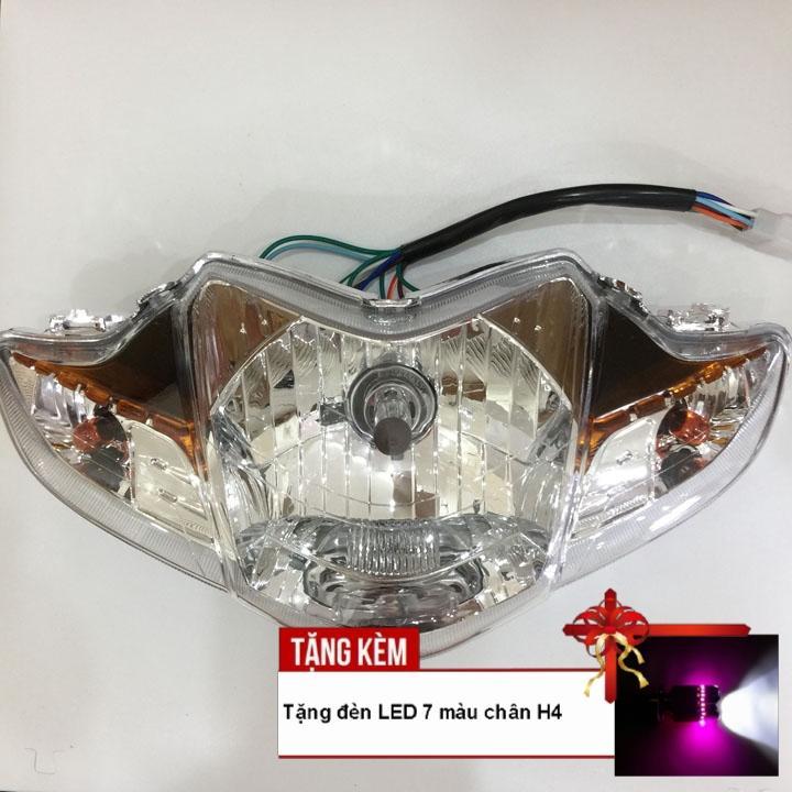 [SIÊU PHẨM ĐÂY] Đầu đèn pha xe WAVE S110 , RSX bóng tròn siêu sáng - G422 - TẶNG ĐÈN LED 7 MÀU CHÂN H4