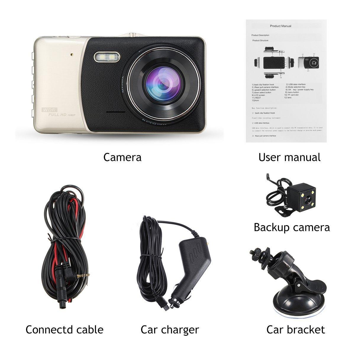 [TẶNG THẺ NHỚ 32GB] Camera Hành Trình Ô Tô X002 1080P Full HD, Màn Hình Góc Rộng, cảm Biến G, Phát Hiện Chuyển Động, Ghi Vòng Lặp (Cam trước) thumbnail