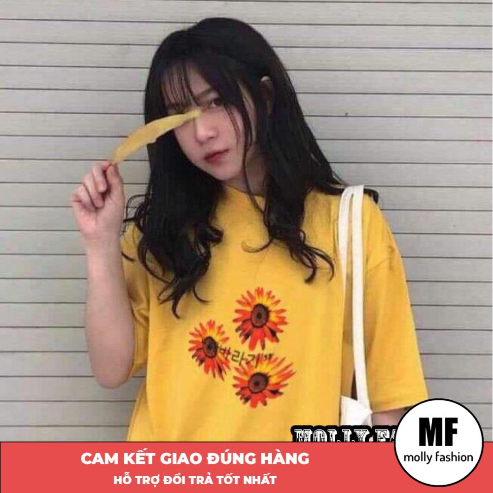 Áo phông, áo thun nam nữ form rộng tay lỡ Unisex Giấu Quần Hoa lửa Freesize 70kg Molly Fashion ML161
