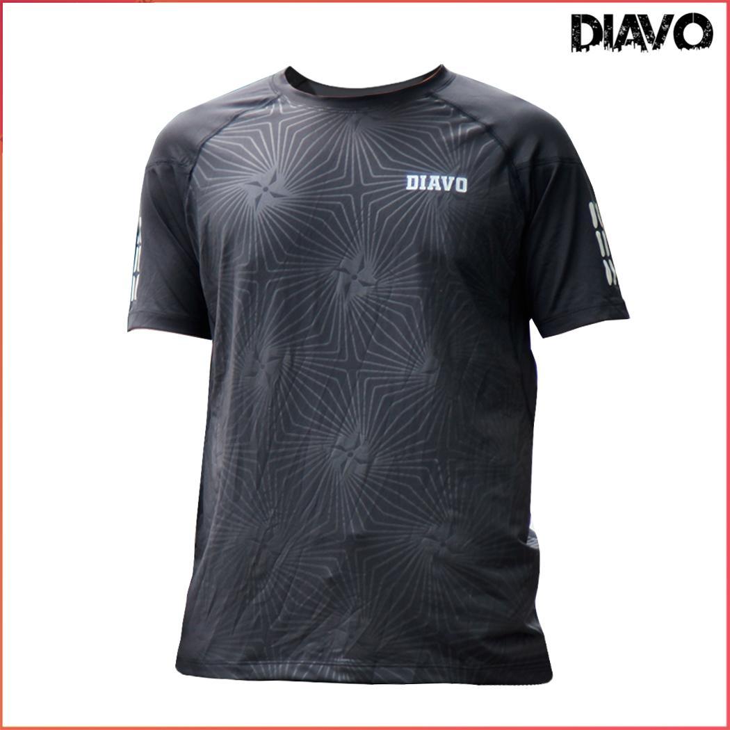 Áo thể thao DIAVO ngắn tay cổ tròn họa tiết kẻ sọc chất đẹp trẻ trung khỏe khoắn thời trang co giãn thoáng mát phù hợp với mọi lưa tuổi - DIAVO