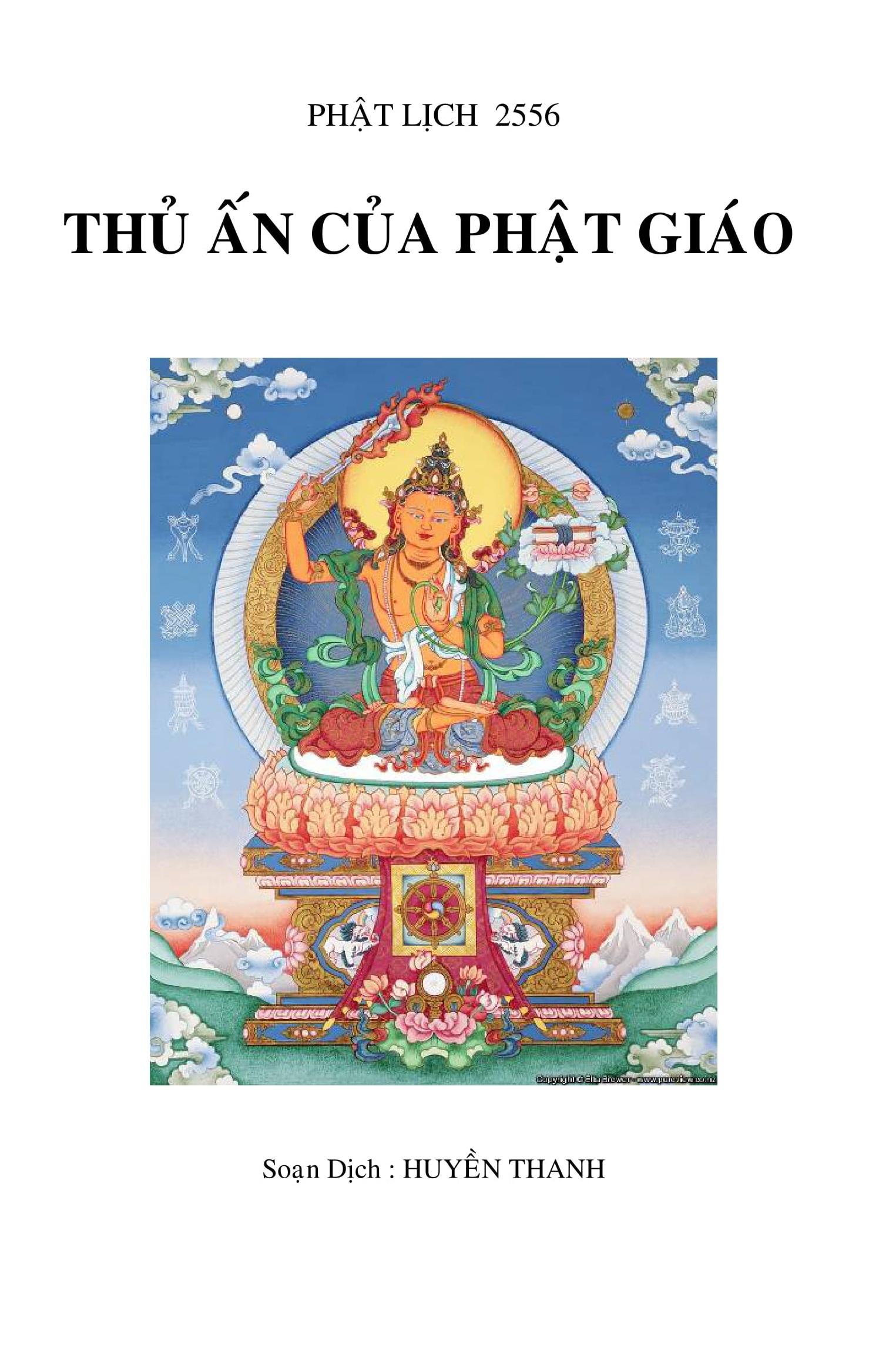 Thủ Ấn Của Phật Giáo