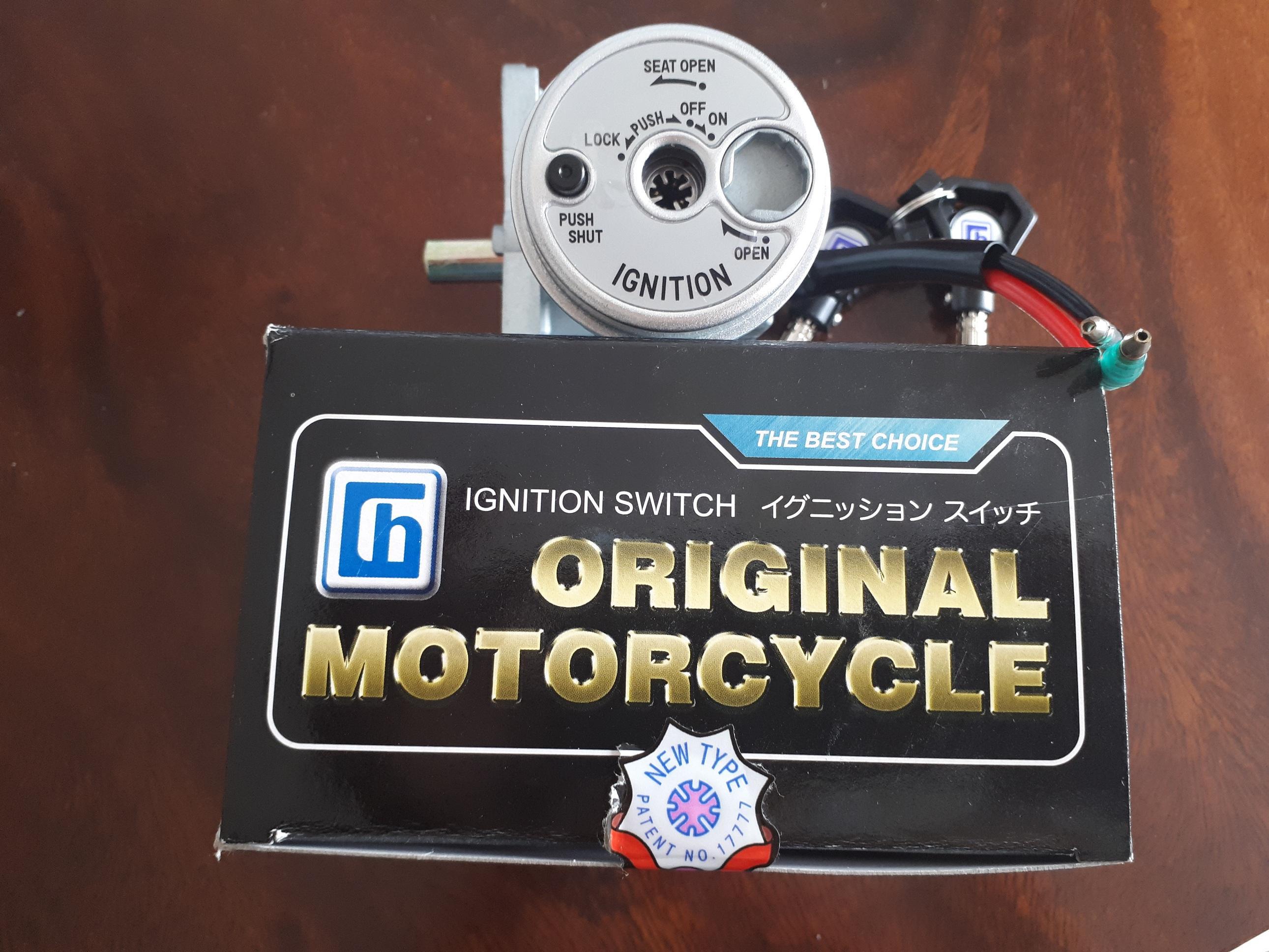 Bộ ổ khóa 8 cạnh xe máy Exciter 150, Nouvo 5, Luvias, Sirius RC FI, chế cho Nouvo 6 loại không có remote chính hãng Chiau Hung