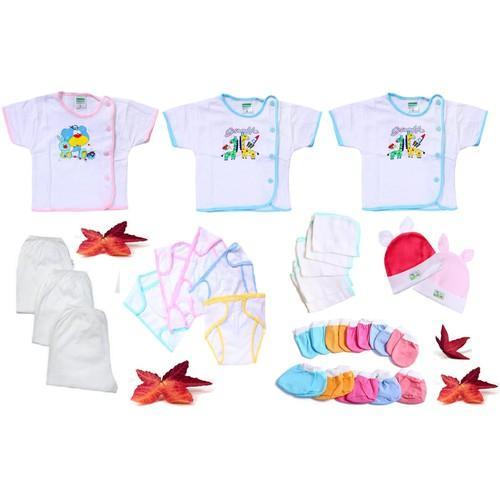 Set 28 món tay ngắn đồ cho trẻ sơ sinh từ 0 đến 03 tháng tuổi