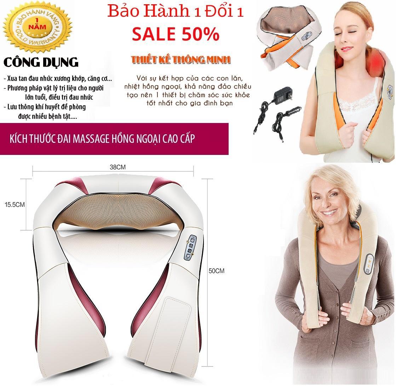 Máy massage & Làm thon cơ thể Máy Matxa Toàn Thân Chính Hàng - Đai Massage Vai Hồng Ngoại Cao Cấp. Đai Masage Cổ Vai Gáy, Máy massage » Mua máy massage Giá Rẻ Hơn tại Tech Home, Máy Massage Chăm Sóc Sức Khỏe Bảo Hành 12 Tháng