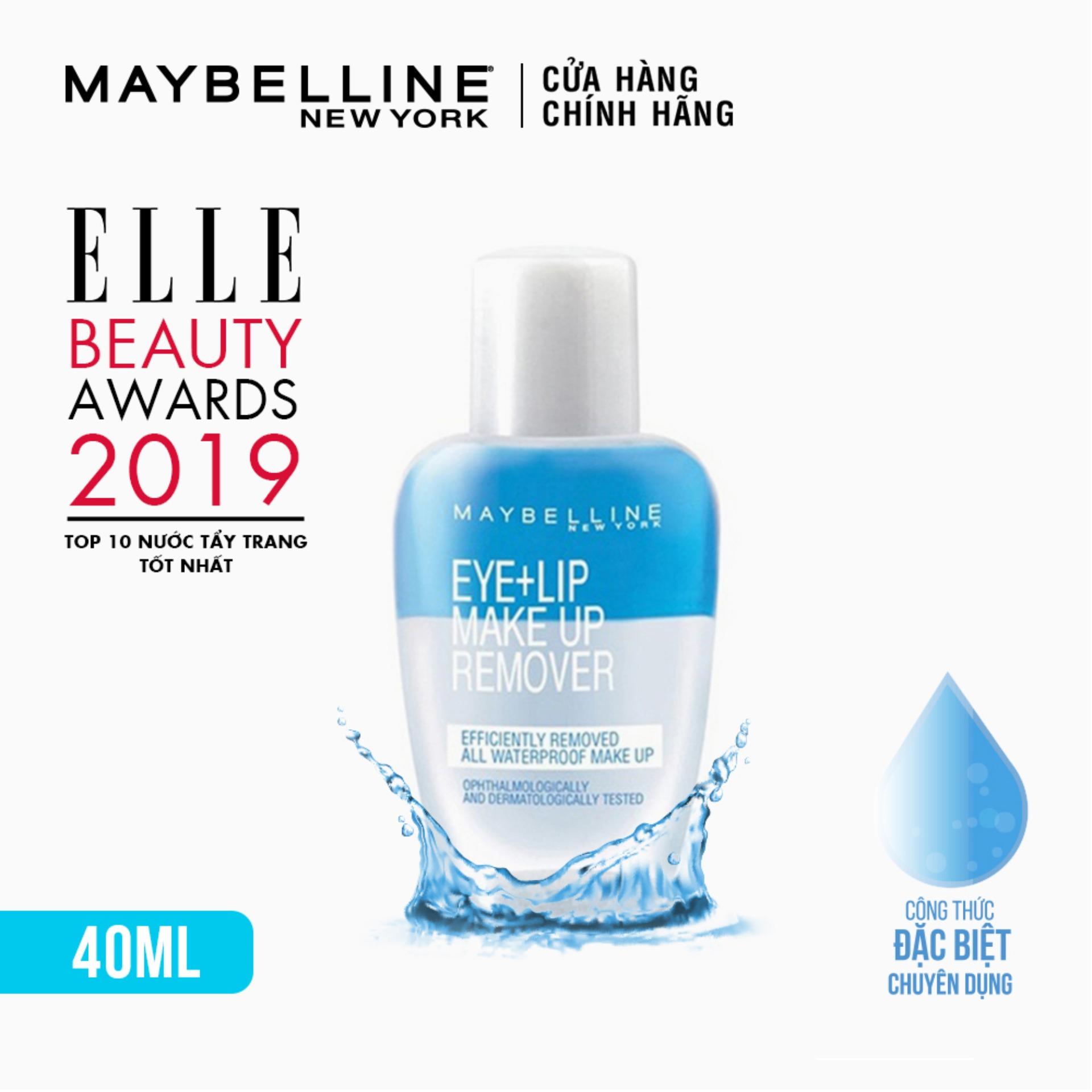 Nước Tẩy Trang Mắt và Môi Chuyên Dụng 2 lớp Maybelline New York Eye &ampamp Lip Makeup Remover 40ml