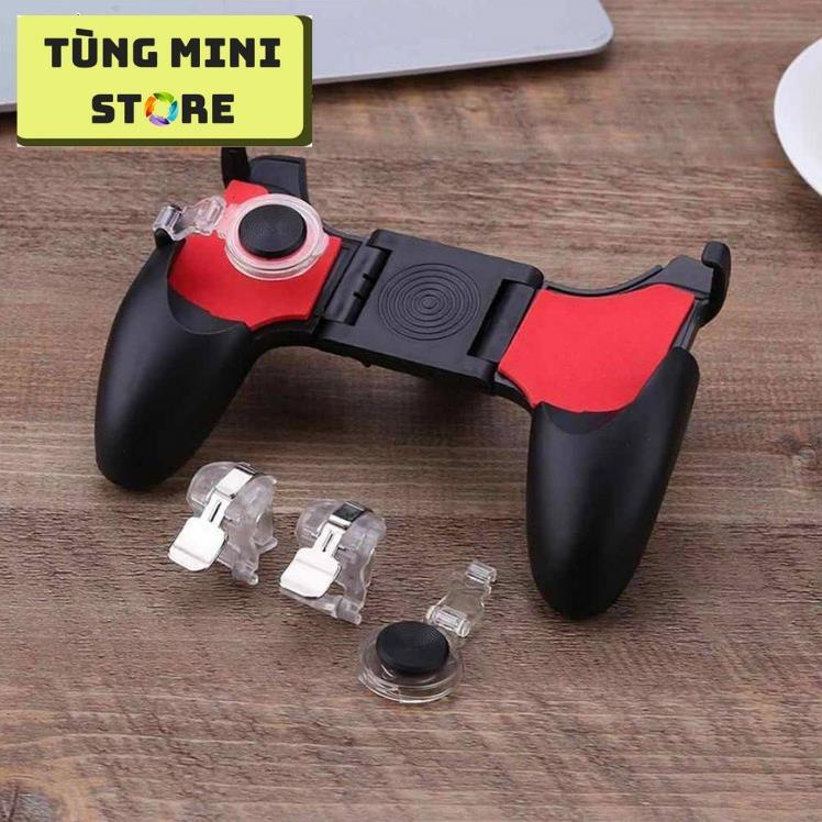 Tay Cầm Chơi Game PUBG, Liên Quân 5 in 1 Dùng Cho Điện Thoại 4.5 - 6.5 inch 2