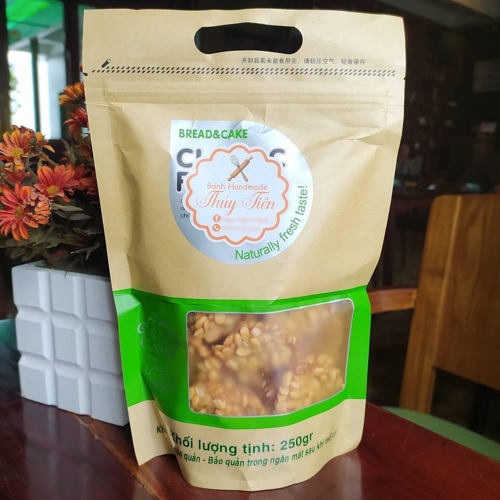 [ĐẶC SẢN AN GIANG] Bánh hạt dưa Handmade thơm béo, giàu dinh dưỡng gói 250Gram (tất cả công đoạn hoàn toàn bằng tay, hợp VSATTP) - HSD 4 tháng