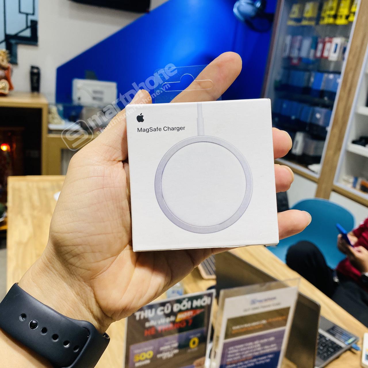 Bộ sạc không dây Magsafe 15W cho iPhone iPhone 8/X, Xs, Xsmax, 11 và 12 Pro  - Chính hãng Apple - Đế Sạc Không Dây